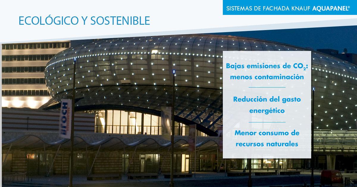 fachada ecológica y sostenible