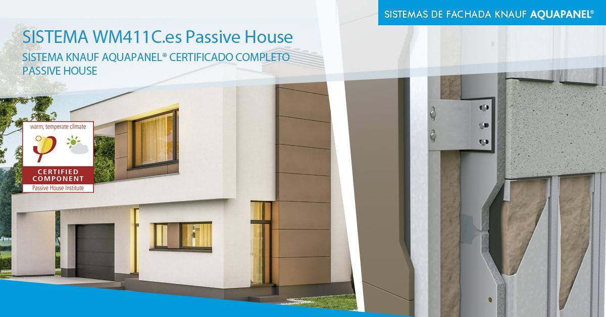 fachada con certificado Passive House